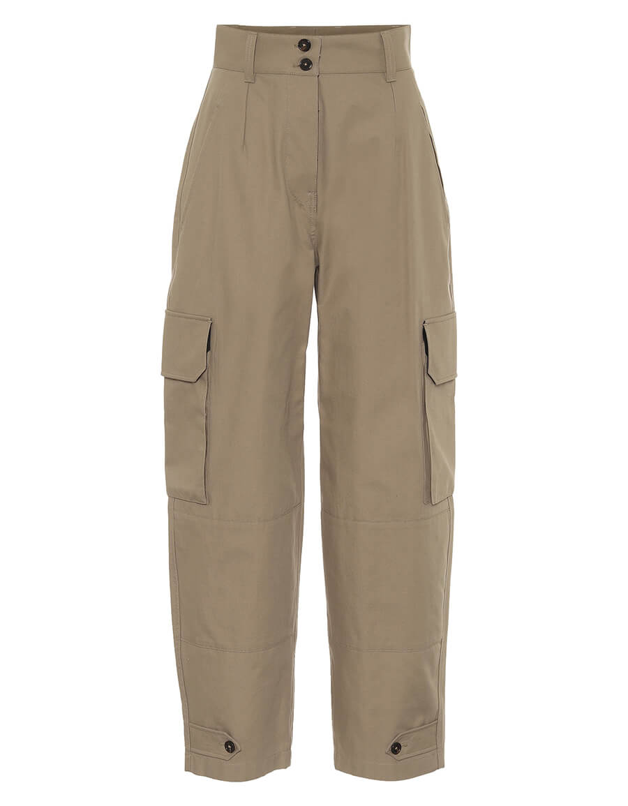 DOLCE & GABBANA High rise cotton cargo pants