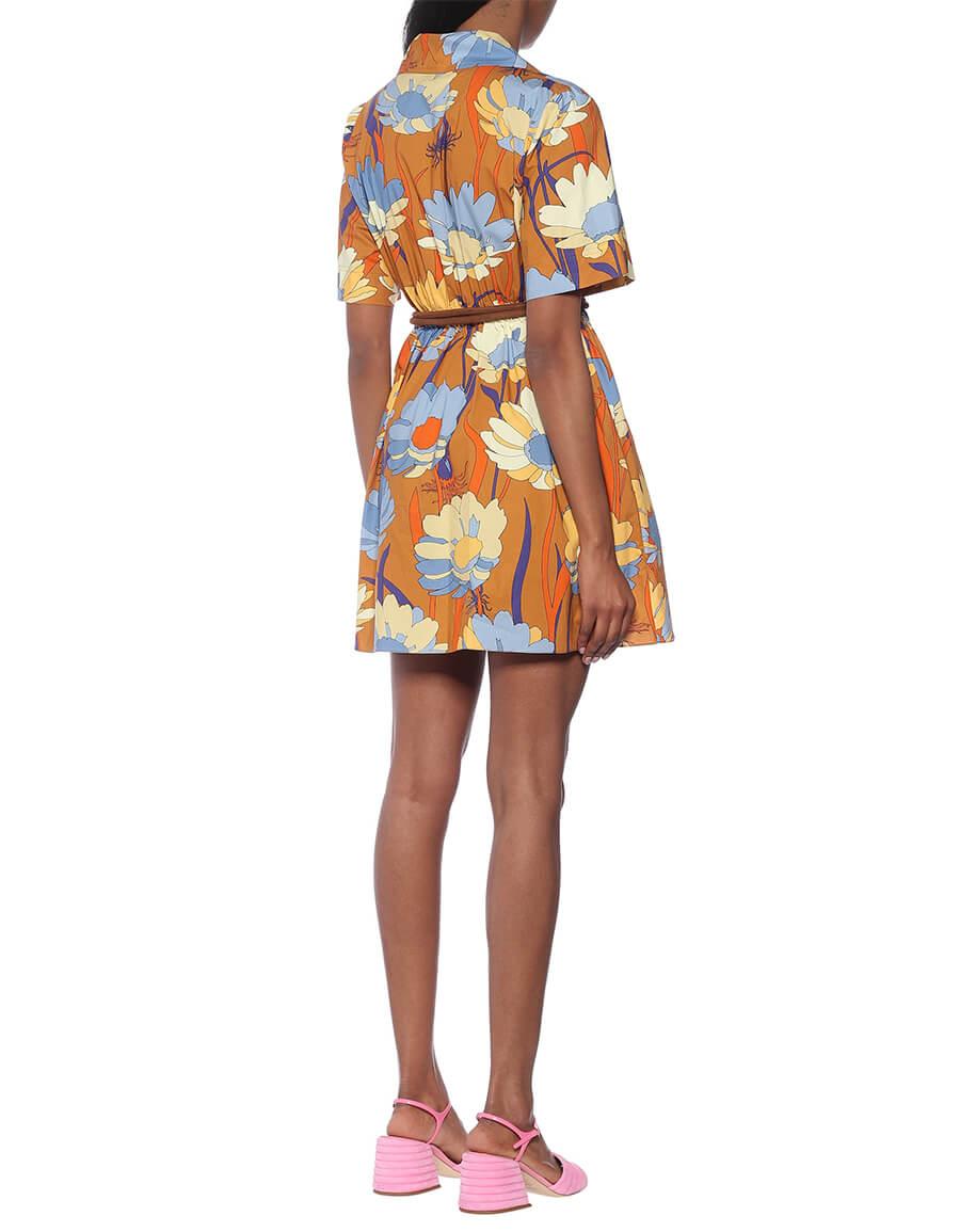 FENDI Floral cotton poplin minidress