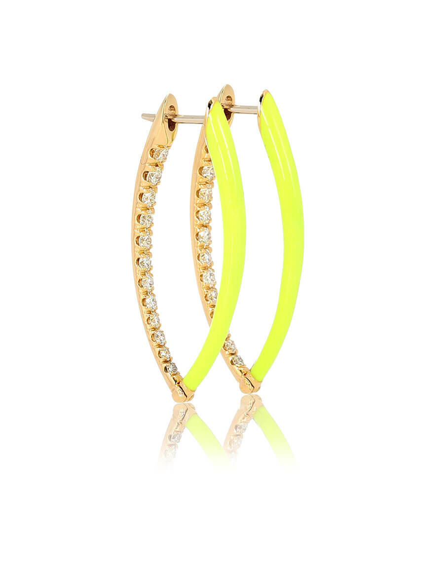MELISSA KAYE Cristina 18kt gold and diamond hoop earrings
