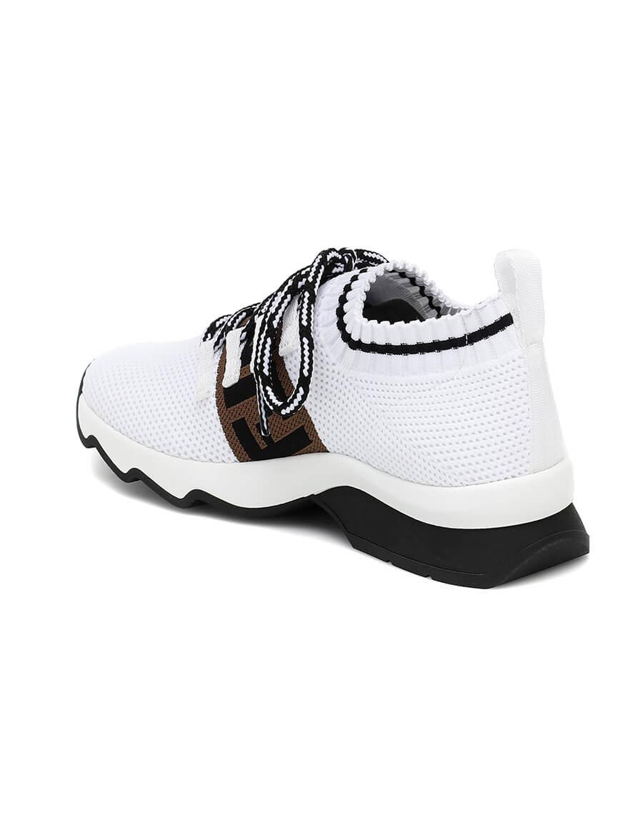 FENDI Rococo mesh knit sneakers