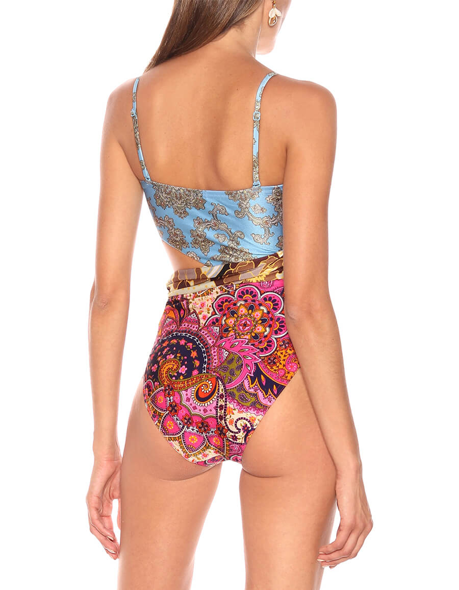 ZIMMERMANN Fiesta Spliced Scarf swimsuit