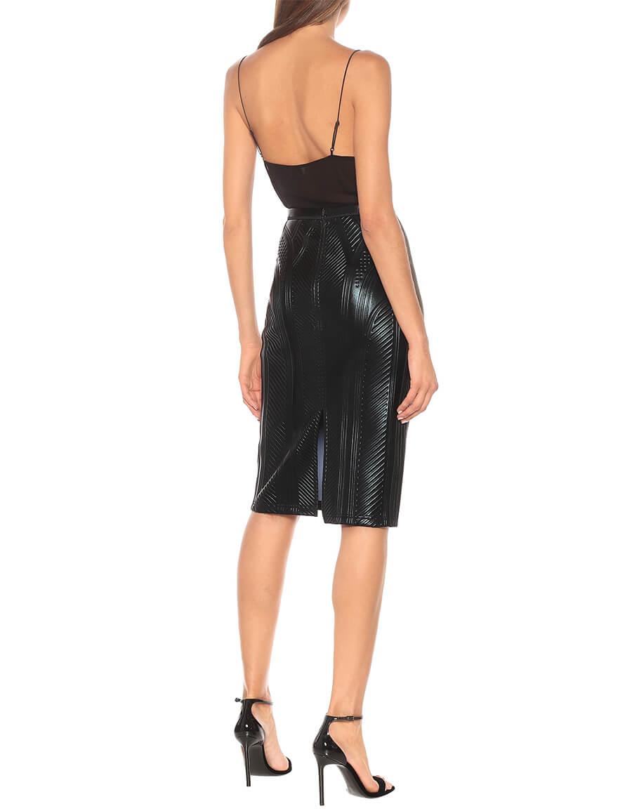MUGLER High rise pencil skirt