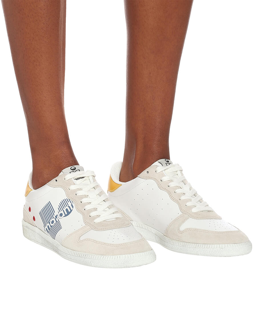 ISABEL MARANT Bullian leather sneakers