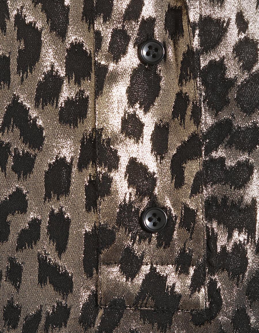 SAINT LAURENT Lamé silk blend minidress
