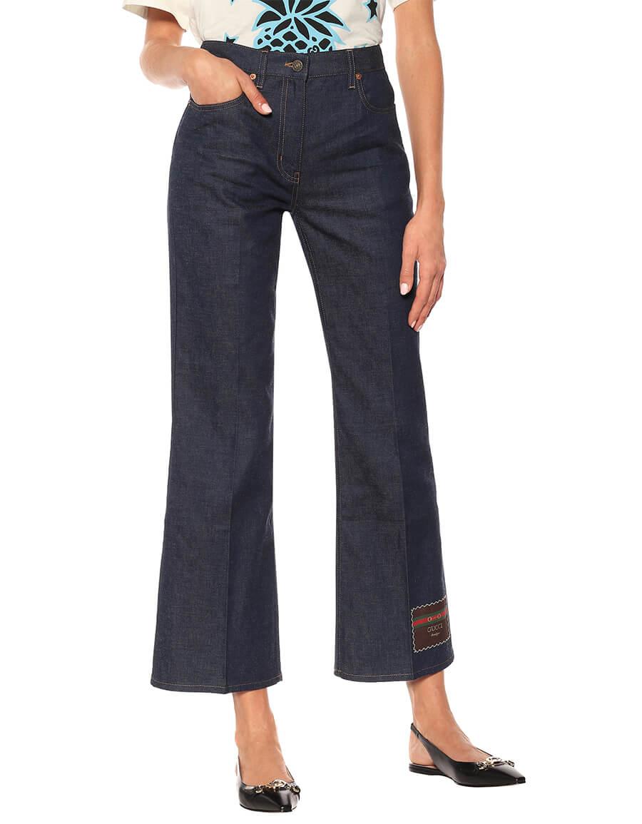 GUCCI High rise wide leg jeans