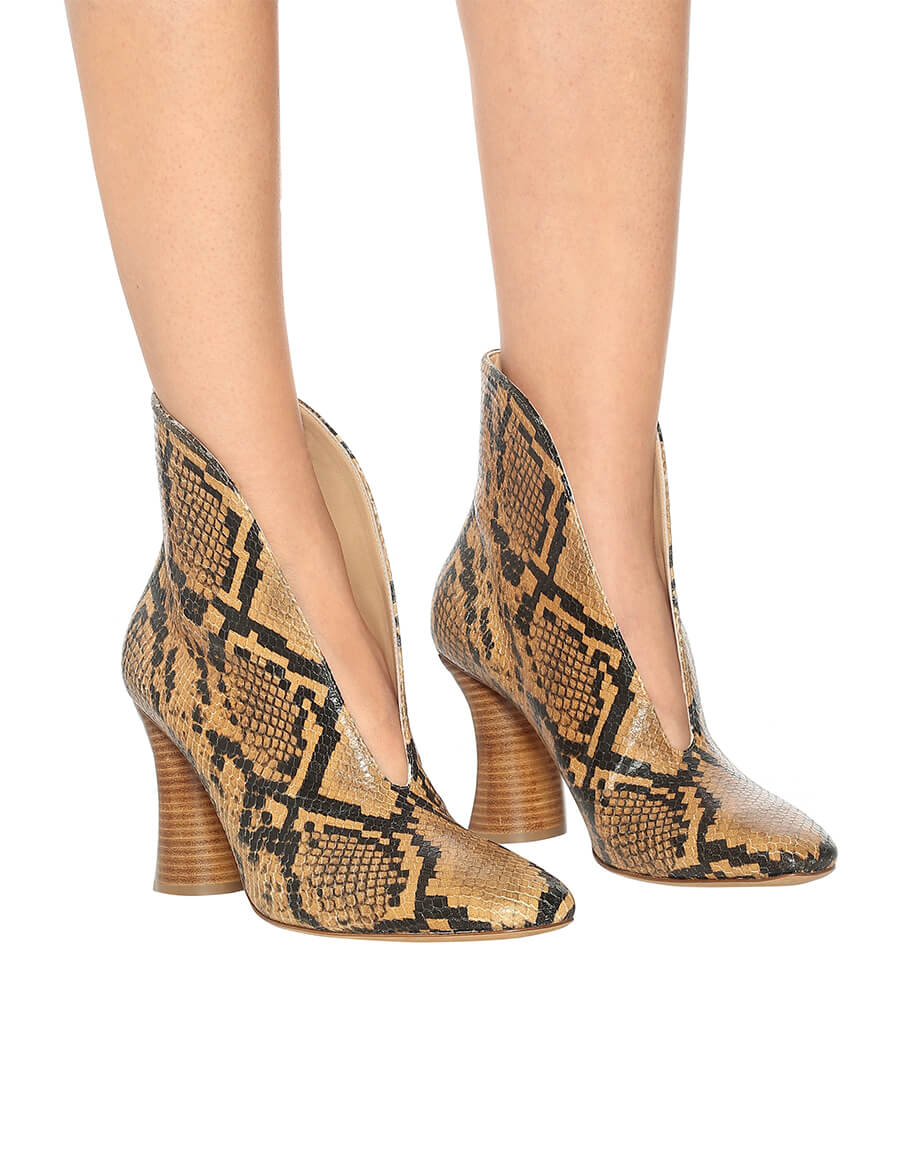 PETAR PETROV Snake effect leather pumps
