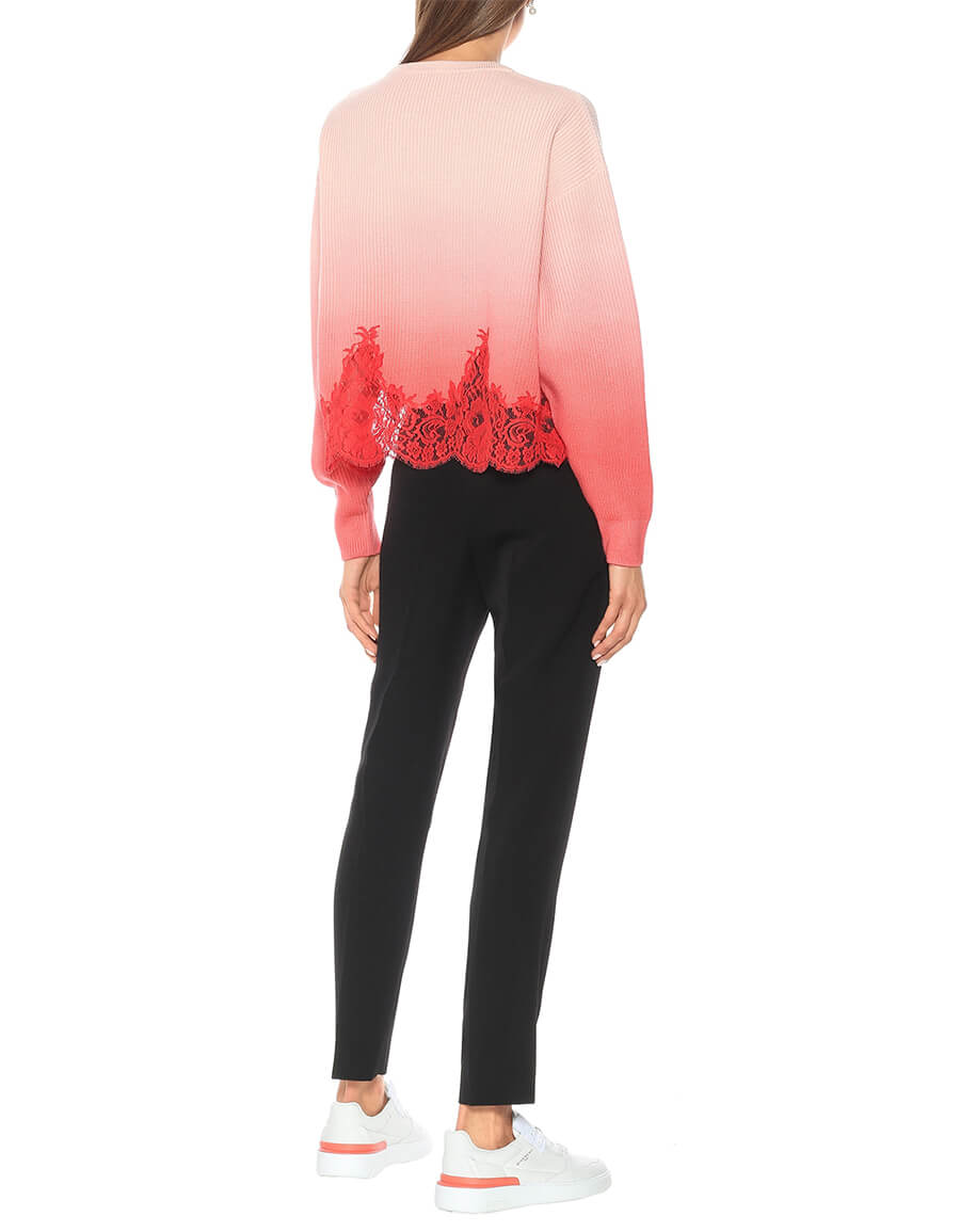 GIVENCHY Lace trimmed ombré wool sweater