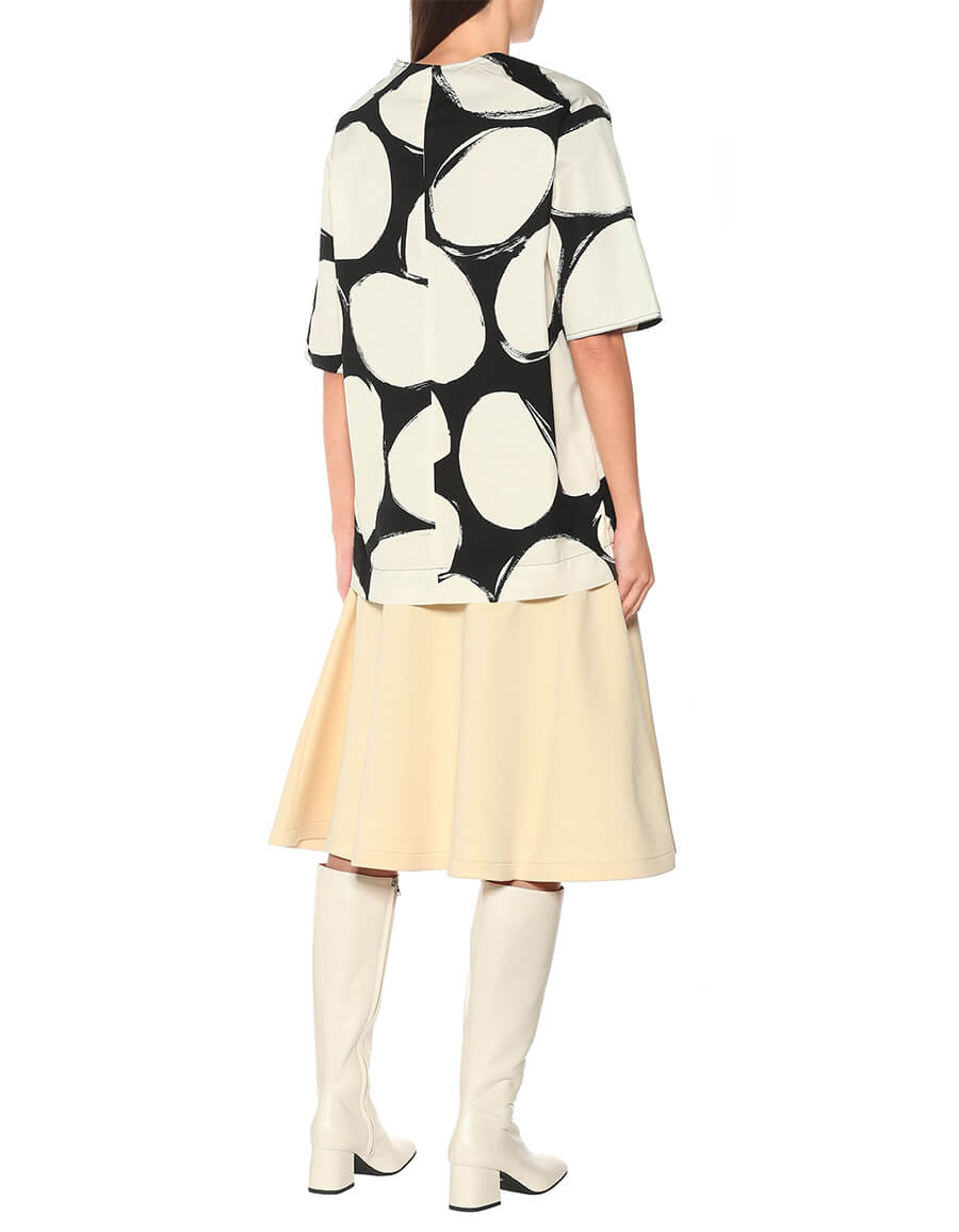 MARNI Printed cotton T shirt