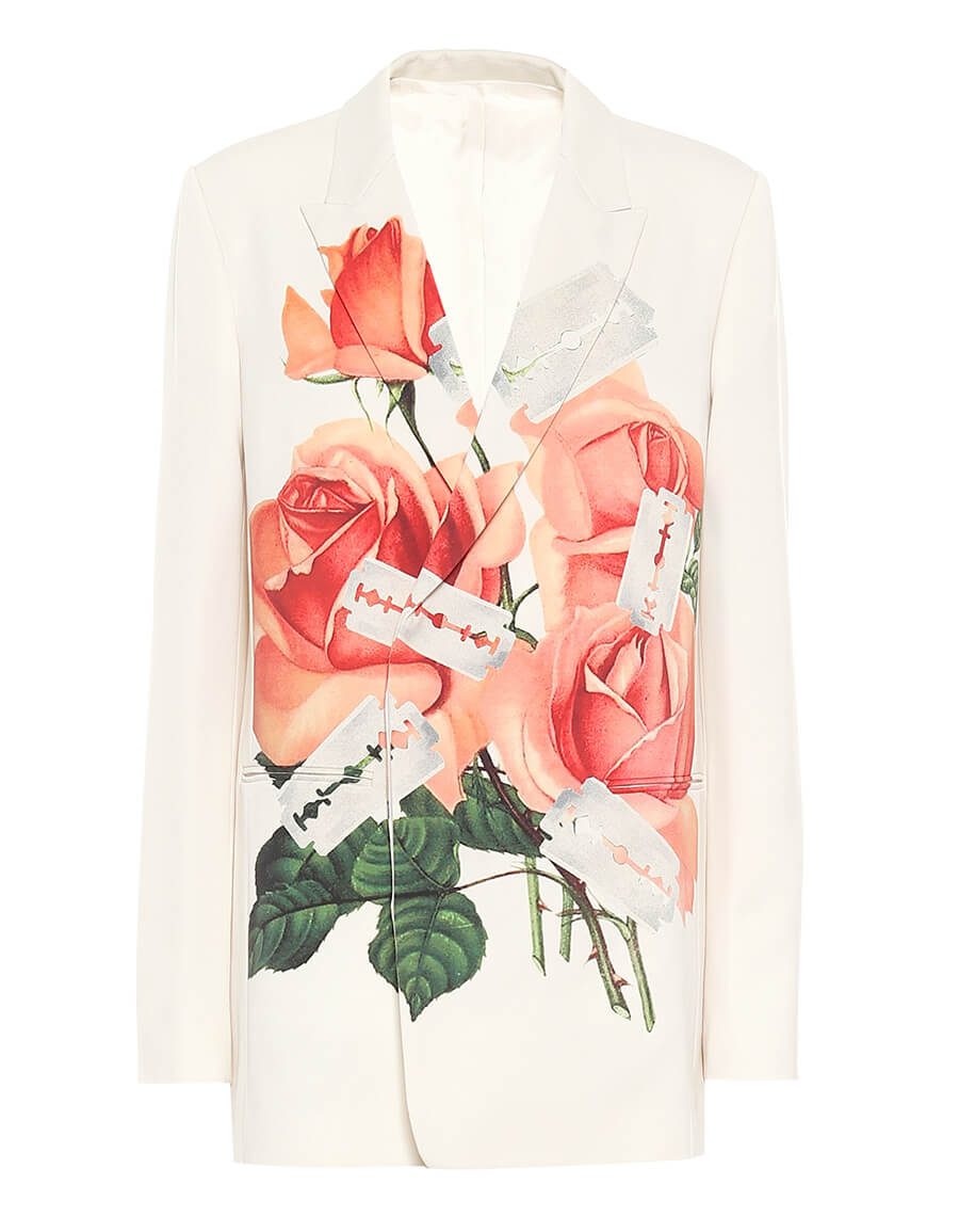 UNDERCOVER Floral wool blazer