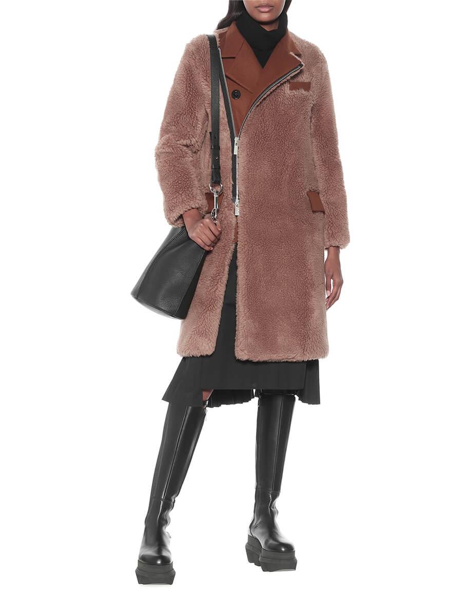 SACAI Faux shearling coat