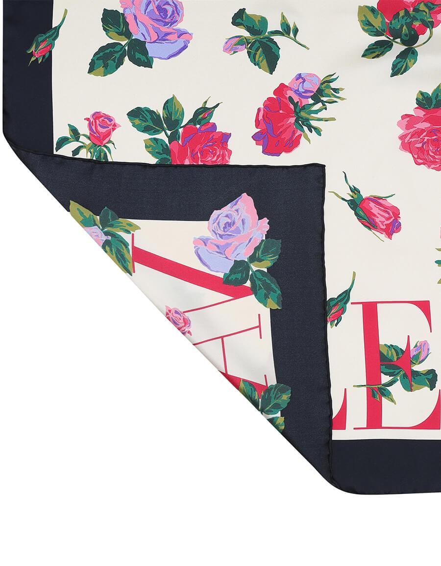 VALENTINO Printed silk twill scarf