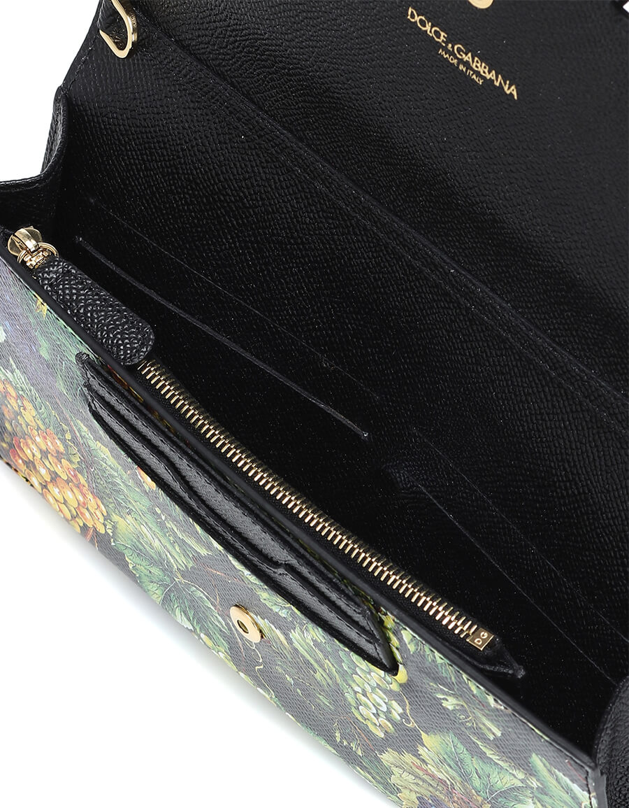 DOLCE & GABBANA Printed leather clutch