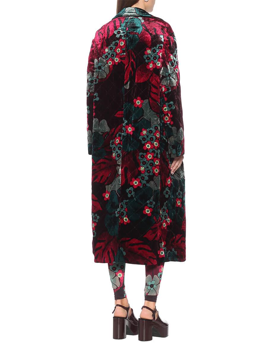 DRIES VAN NOTEN Floral velvet coat