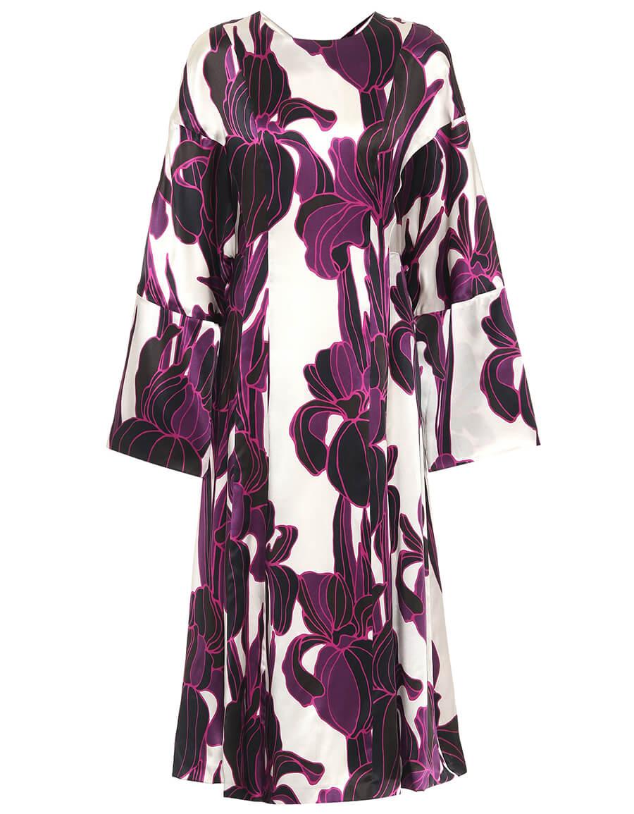 DRIES VAN NOTEN Floral silk midi dress