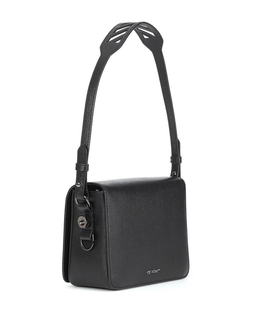 OFF WHITE Binder Clip leather shoulder bag