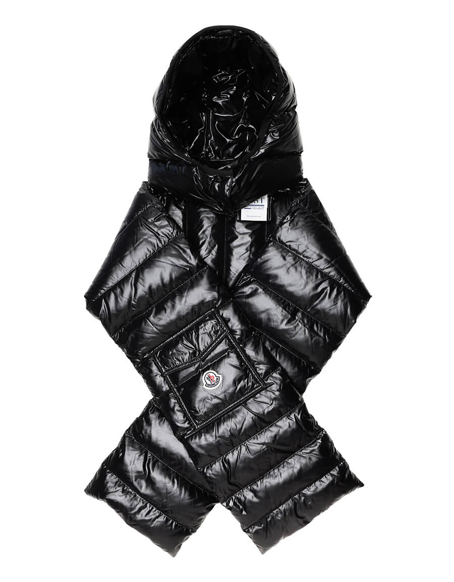 MONCLER Hooded down scarf