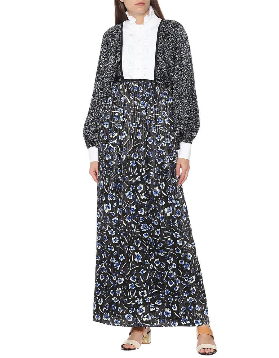 TORY BURCH Floral stretch silk maxi dress