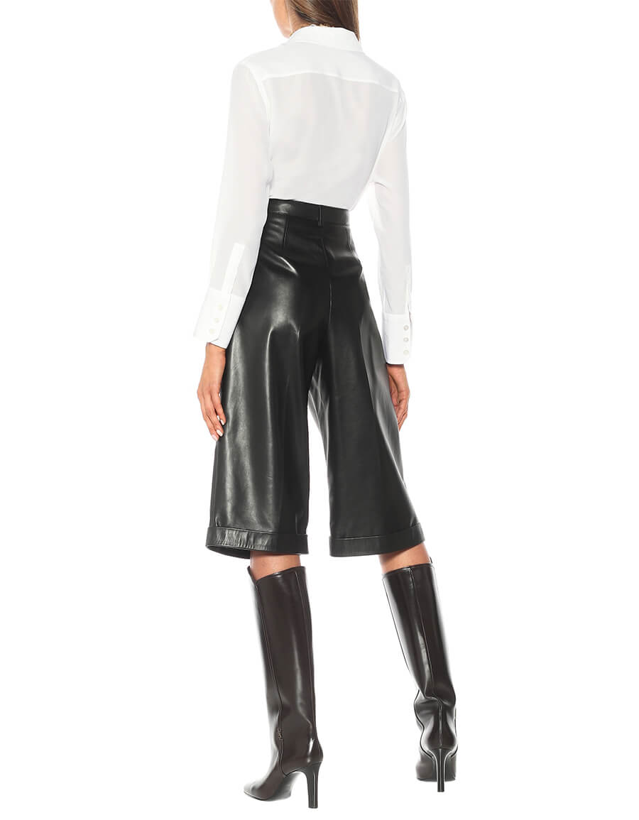 SAINT LAURENT Leather Bermuda shorts