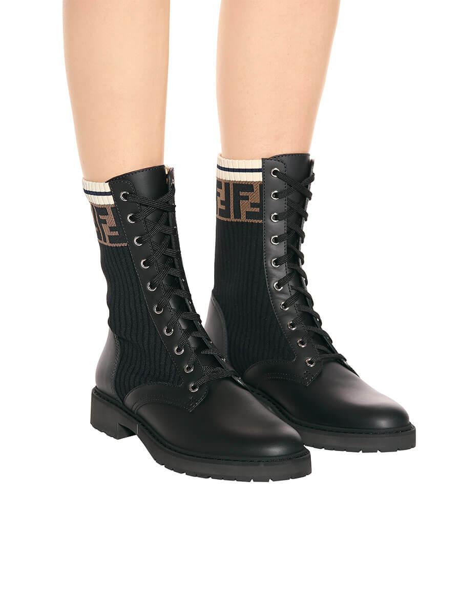 FENDI Leather biker boots