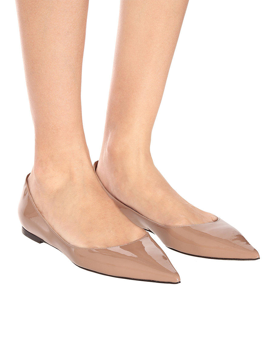 JIMMY CHOO Love patent leather ballet flats