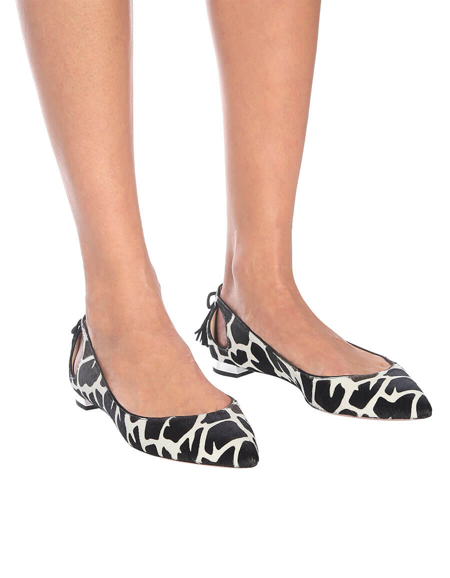 AQUAZZURA Forever Marilyn calf hair ballet flats