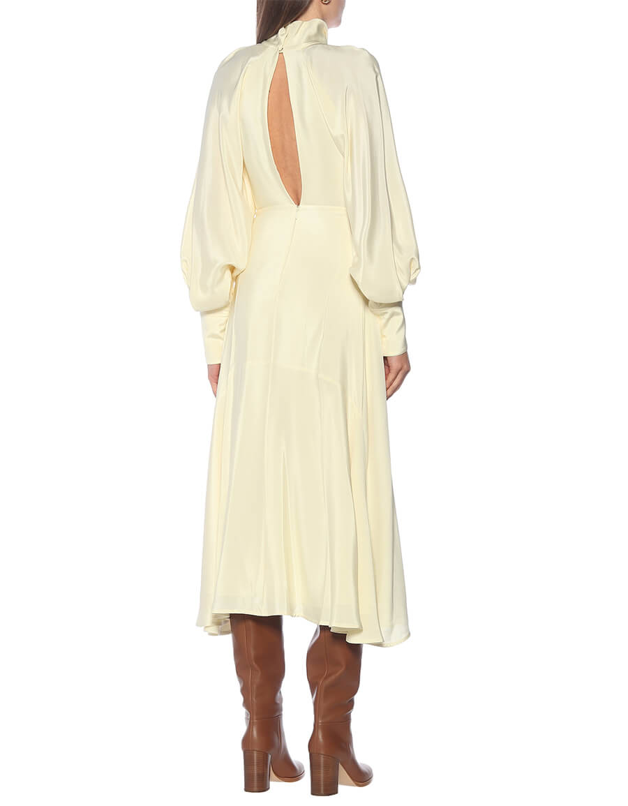 VICTORIA BECKHAM Silk satin midi dress