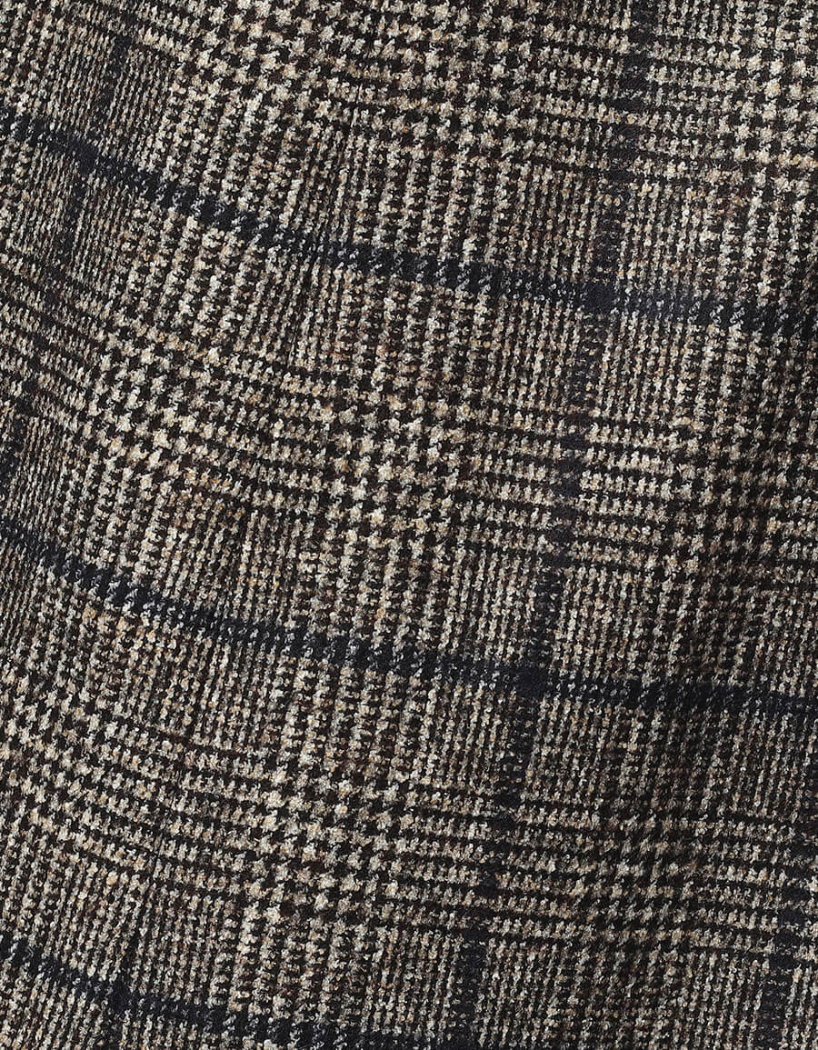 DOLCE & GABBANA Checked alpaca and cotton blend skirt