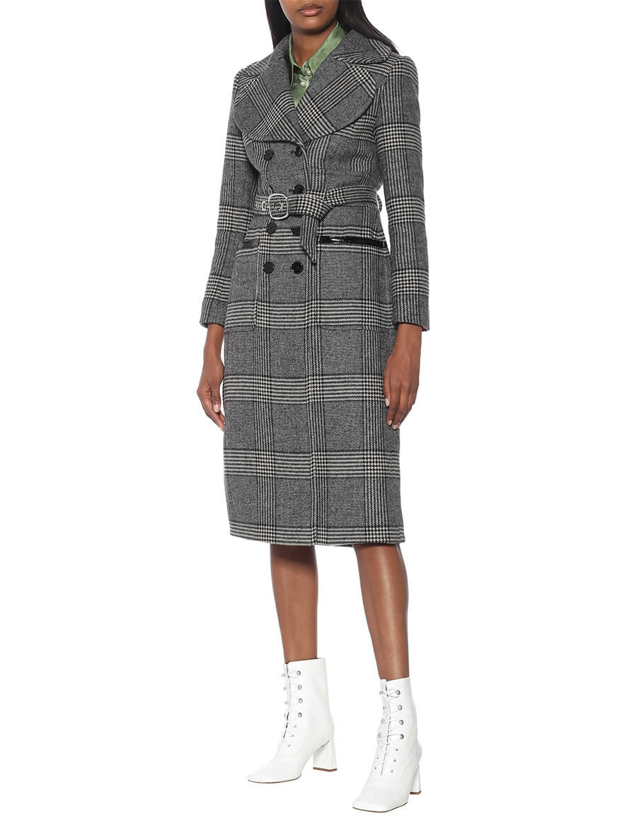 ALEXACHUNG Penelope Prince of Wales checked coat