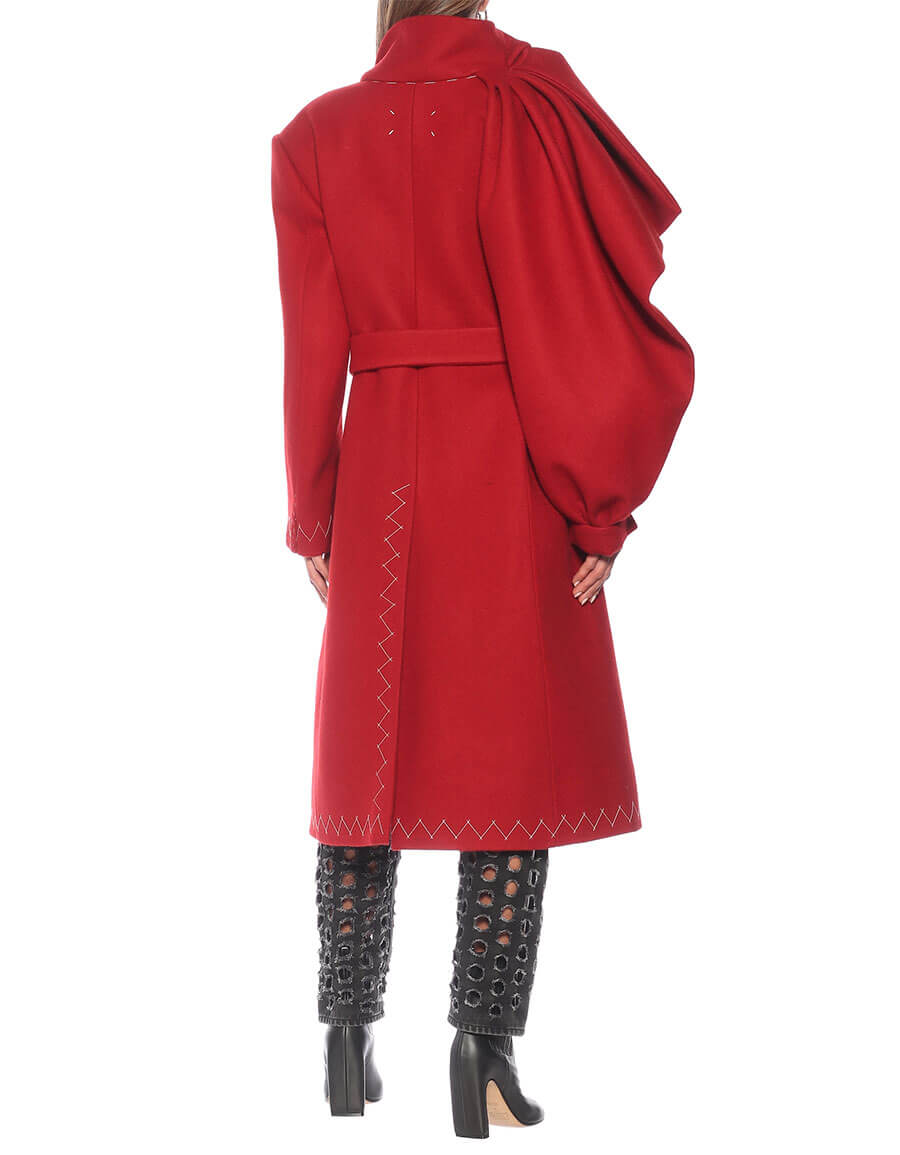 MAISON MARGIELA Deconstructed wool trench coat