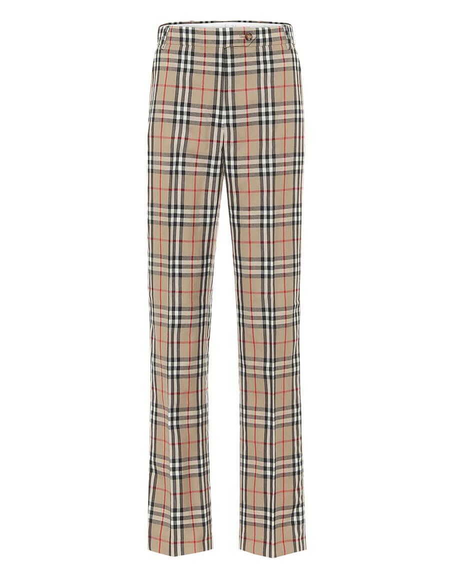 BURBERRY Vintage Check high rise pants