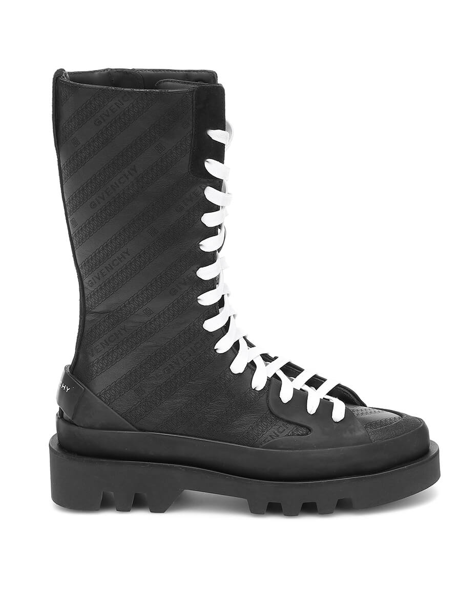 GIVENCHY Clapham leather combat boots