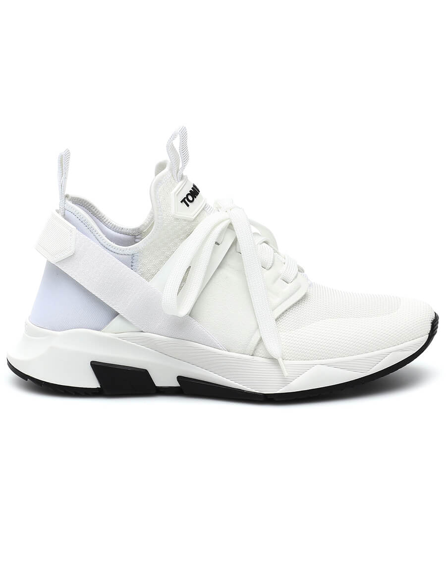 TOM FORD Leather trimmed sneakers