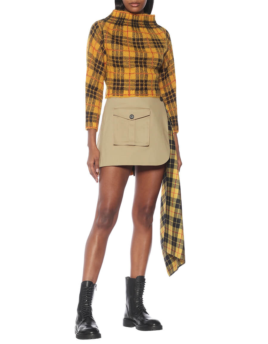 MONSE Checked mini skirt
