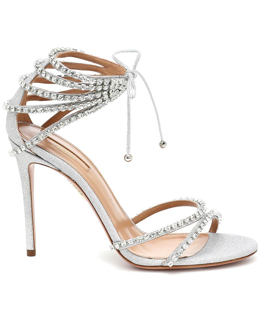 AQUAZZURA Luminous 105 crystal embellished sandals