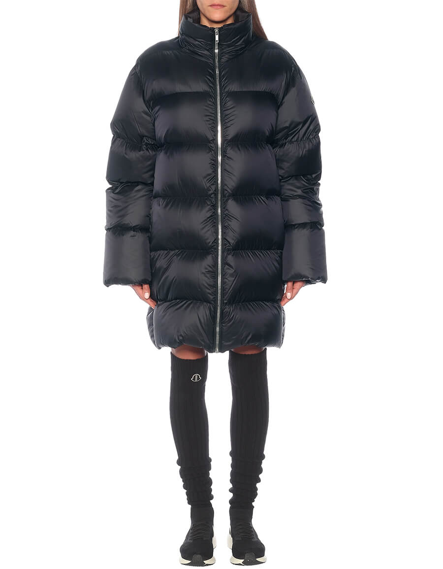 RICK OWENS x Moncer Cyclopic quilted down coat