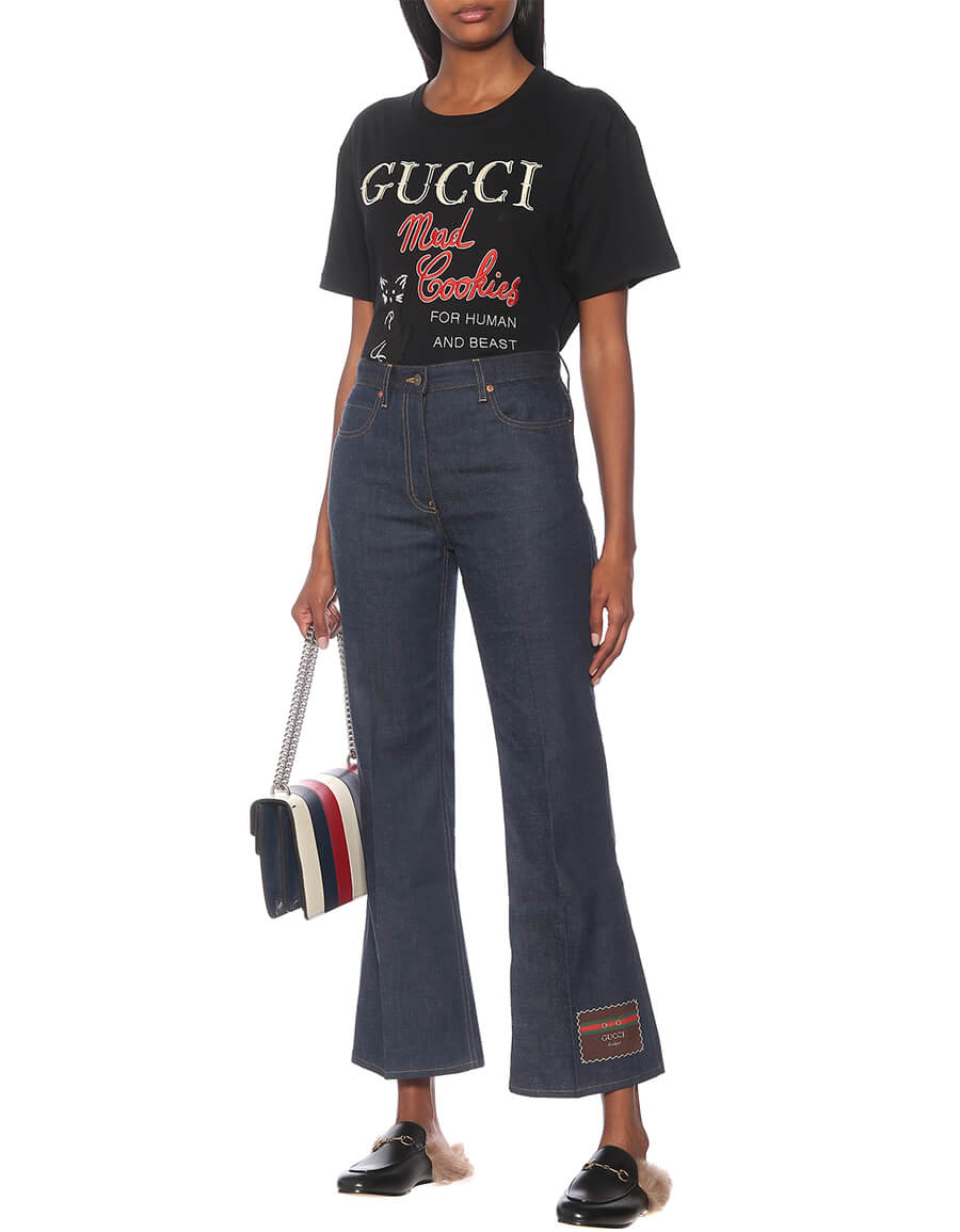 GUCCI Printed cotton jersey T shirt