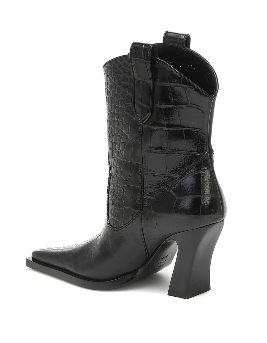 TOM FORD Croc effect leather Western boots