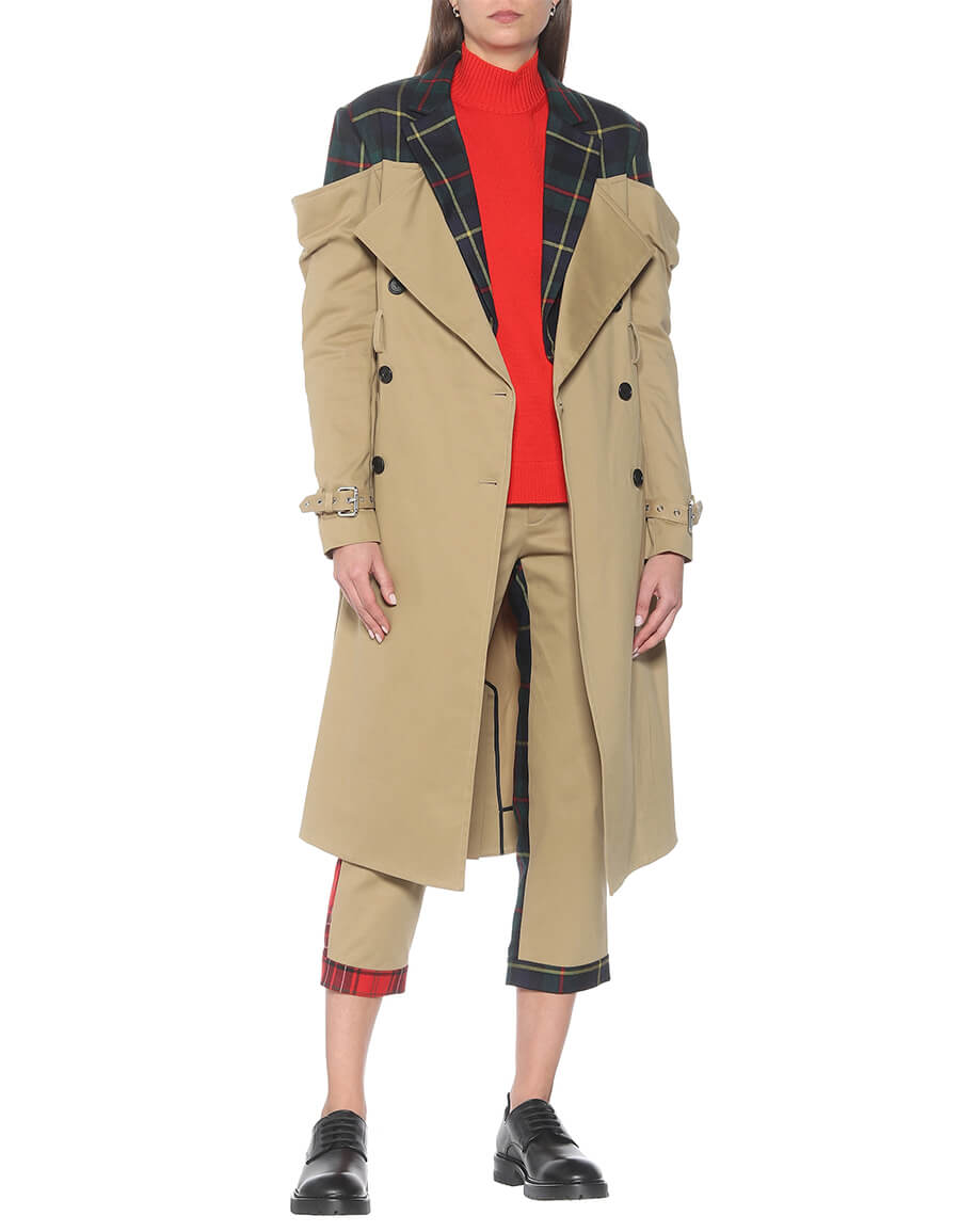 MONSE Checked trench coat