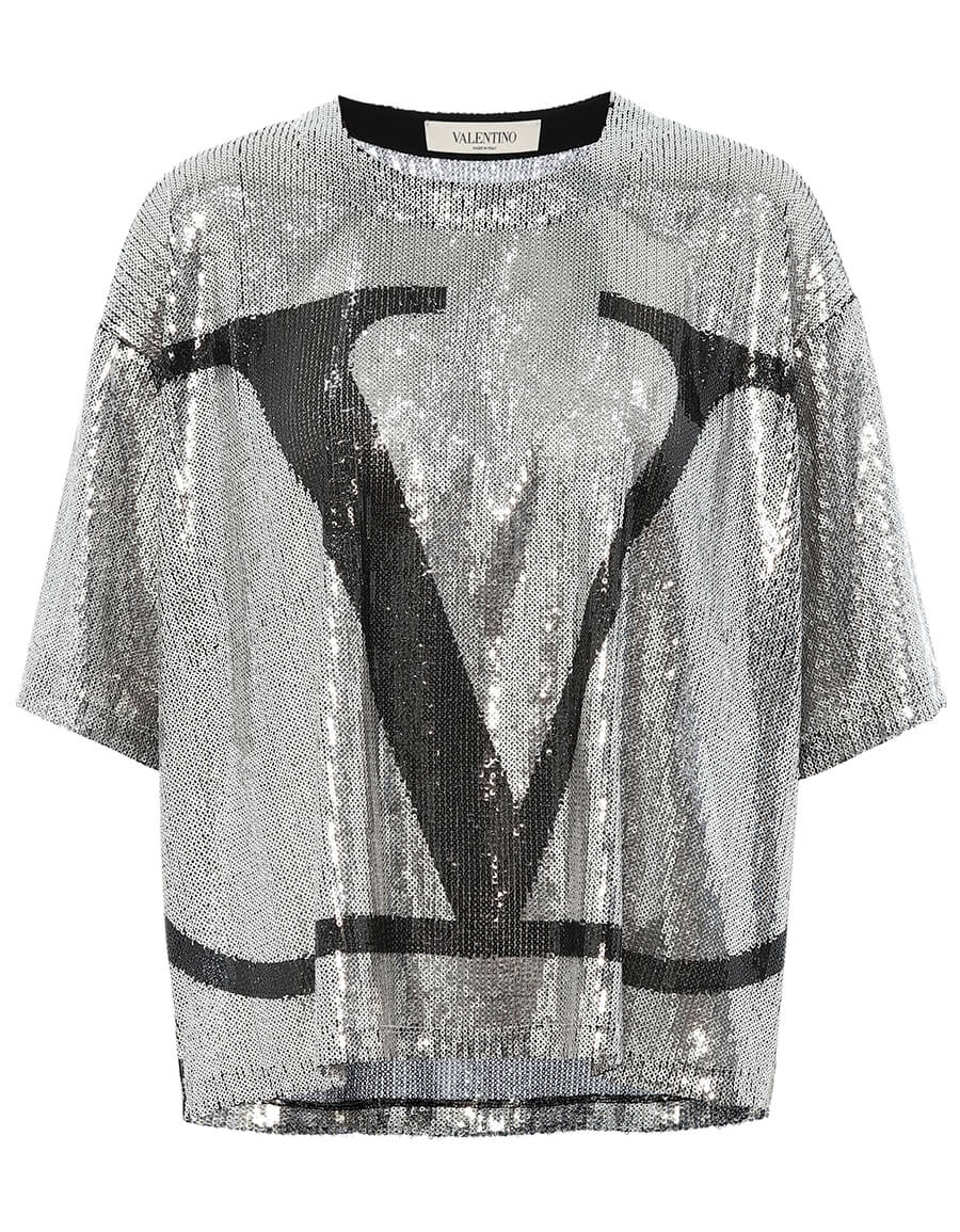 VALENTINO VLOGO sequin T shirt