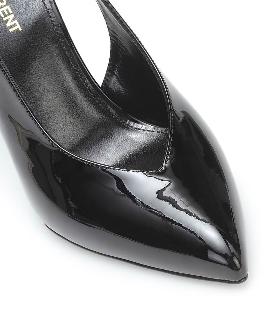 SAINT LAURENT Kika patent leather slingback pumps