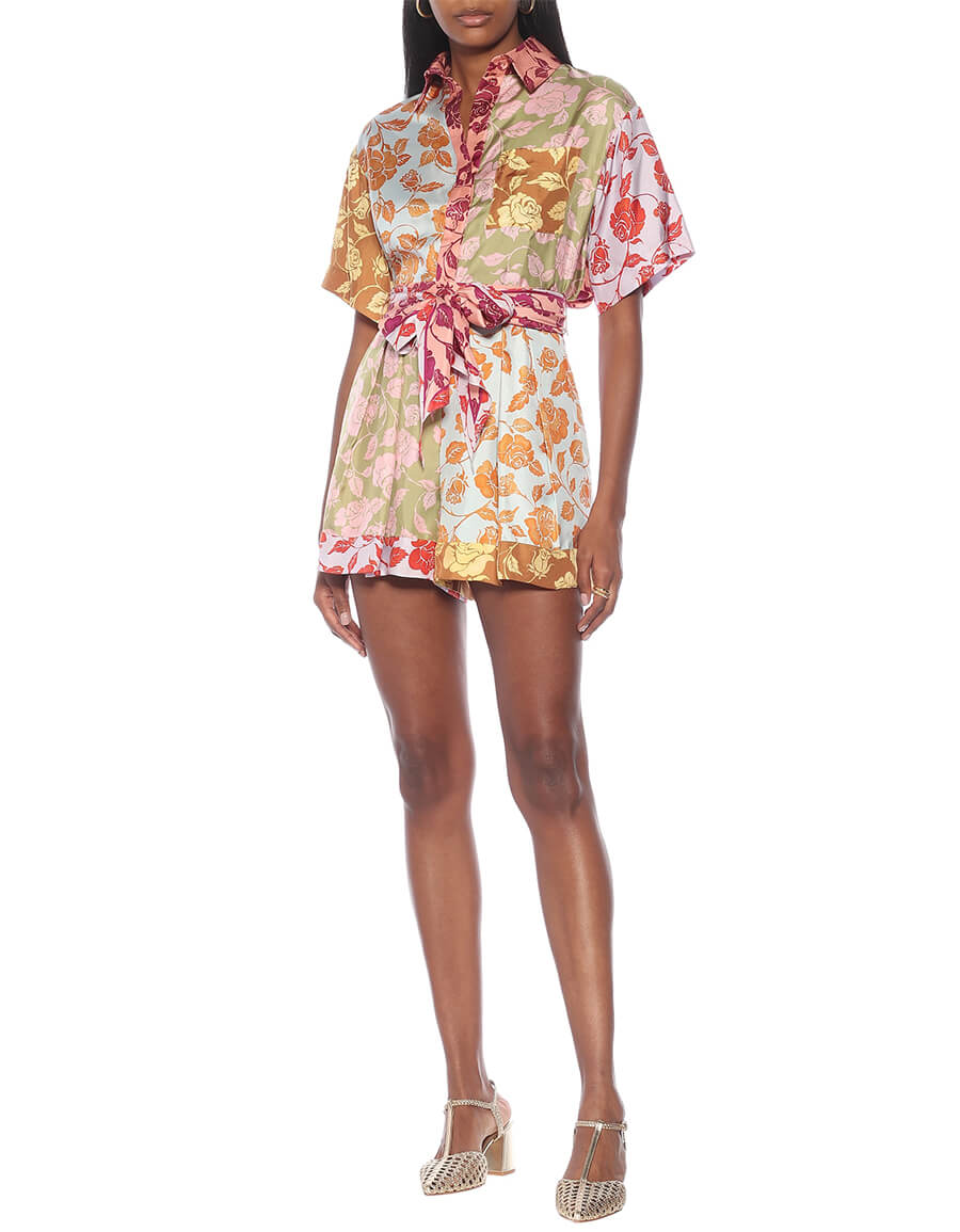 ZIMMERMANN Lovestruck floral silk twill shorts