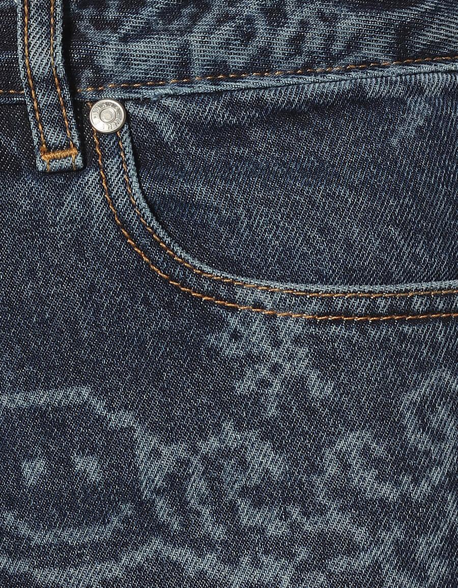 GANNI Printed high rise straight jeans