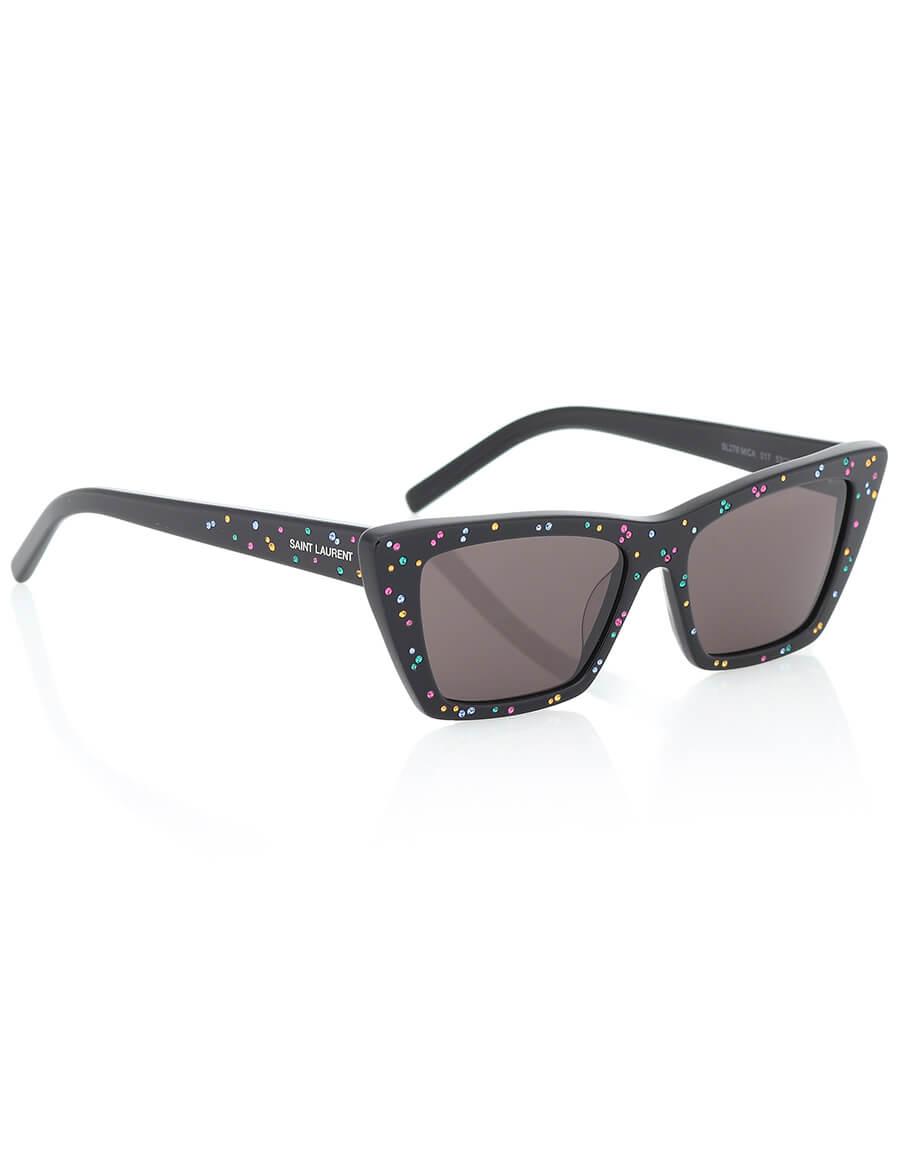 SAINT LAURENT Embellished cat eye sunglasses