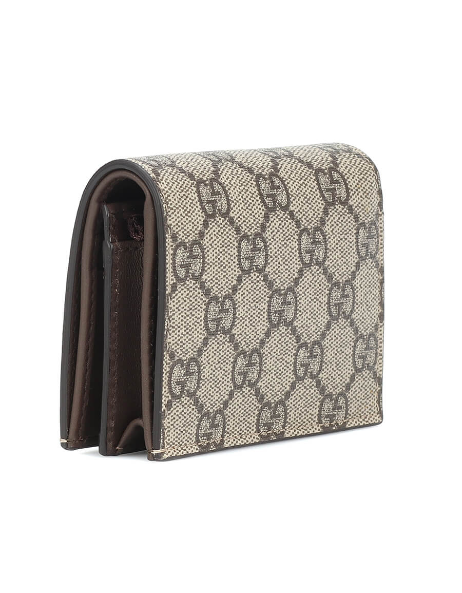 GUCCI GG Supreme leather and canvas wallet