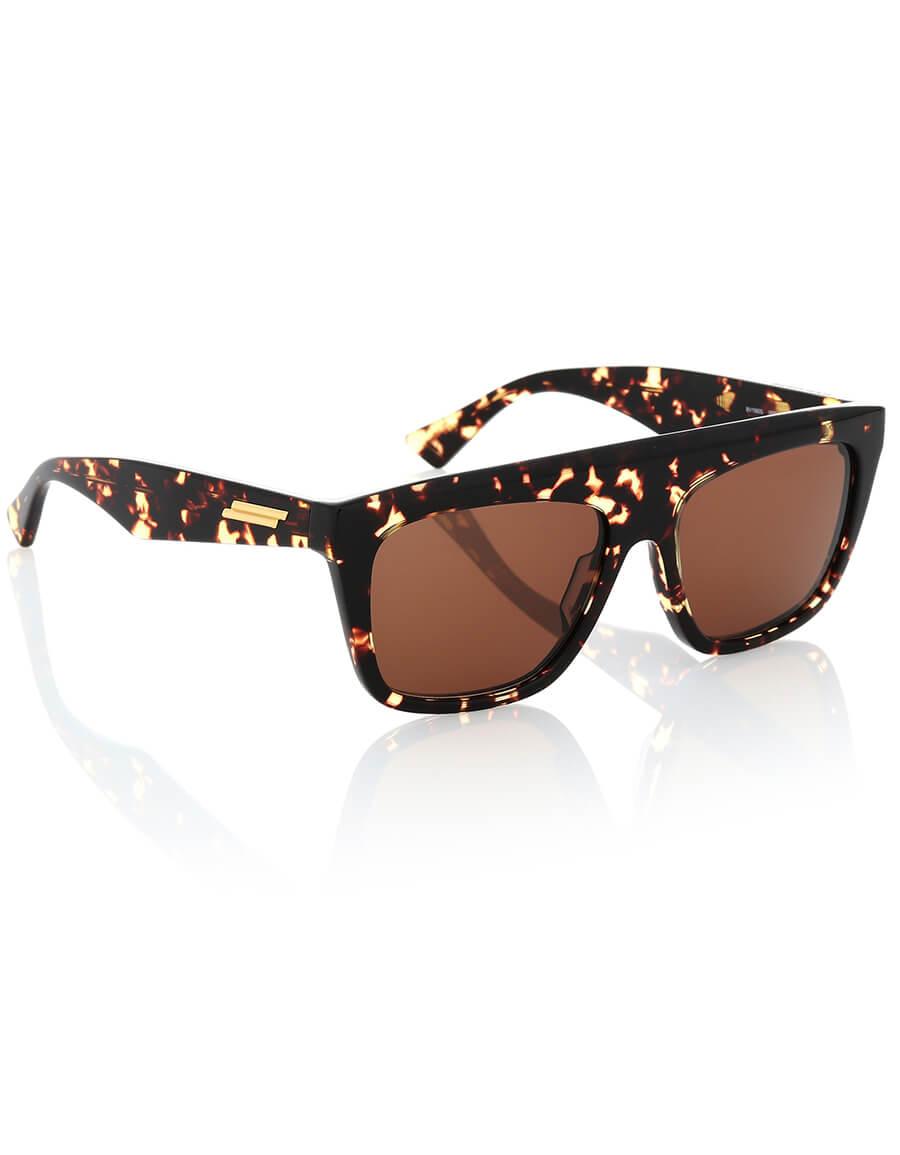 BOTTEGA VENETA Tortoiseshell D Frame sunglasses