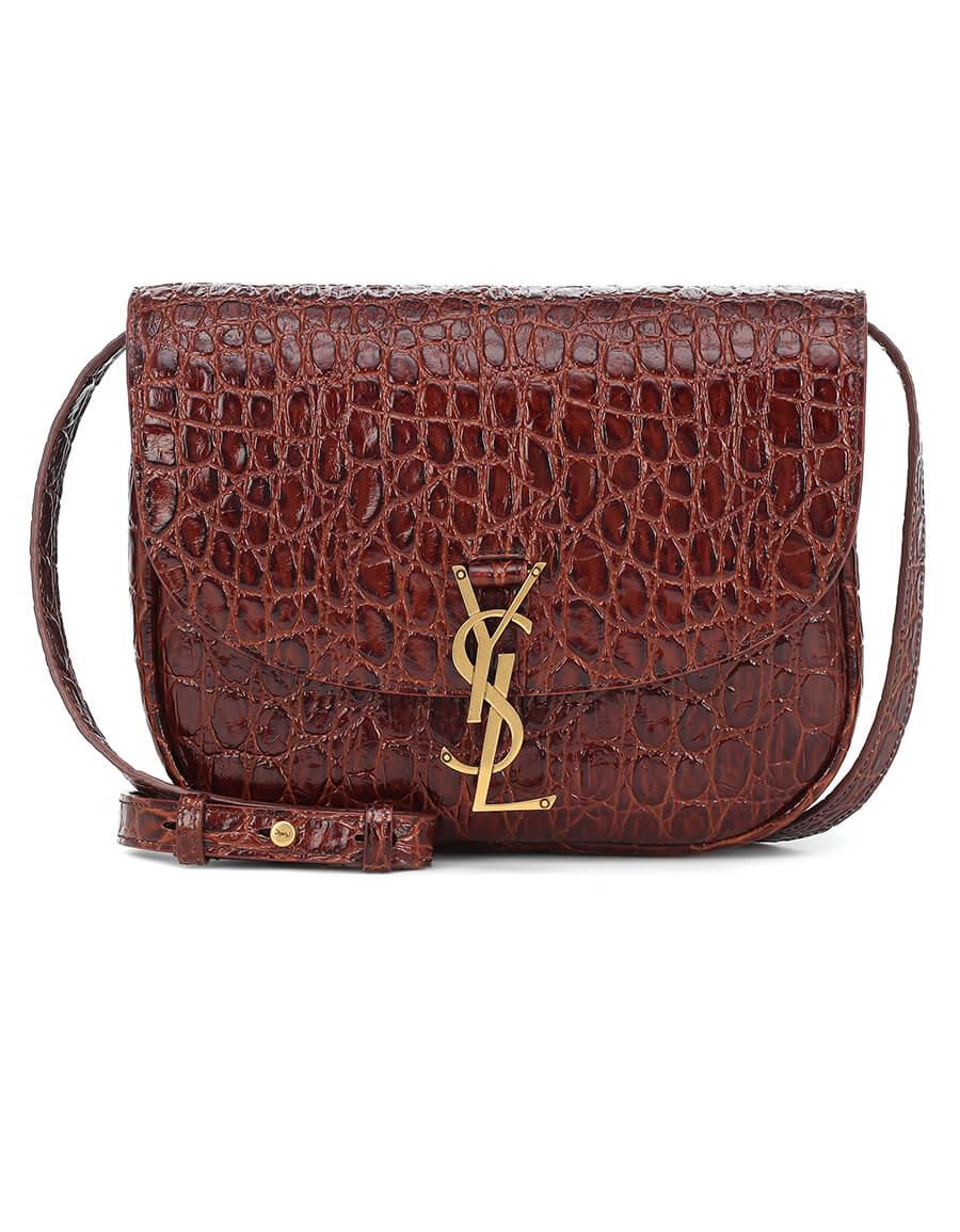 SAINT LAURENT Kaia Medium croc effect leather shoulder bag