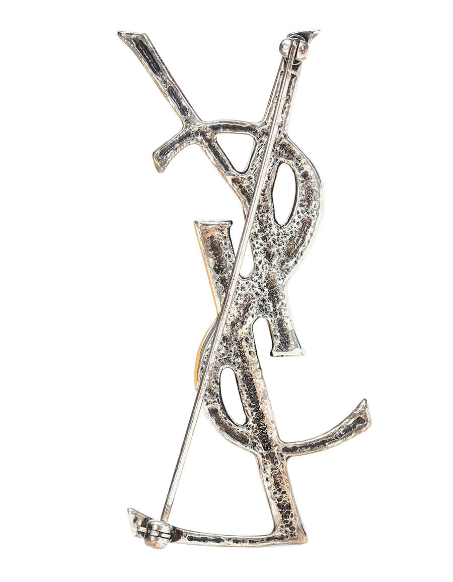 SAINT LAURENT Opyum YSL brooch