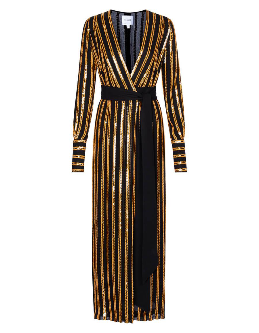 GALVAN Pride sequined wrap dress