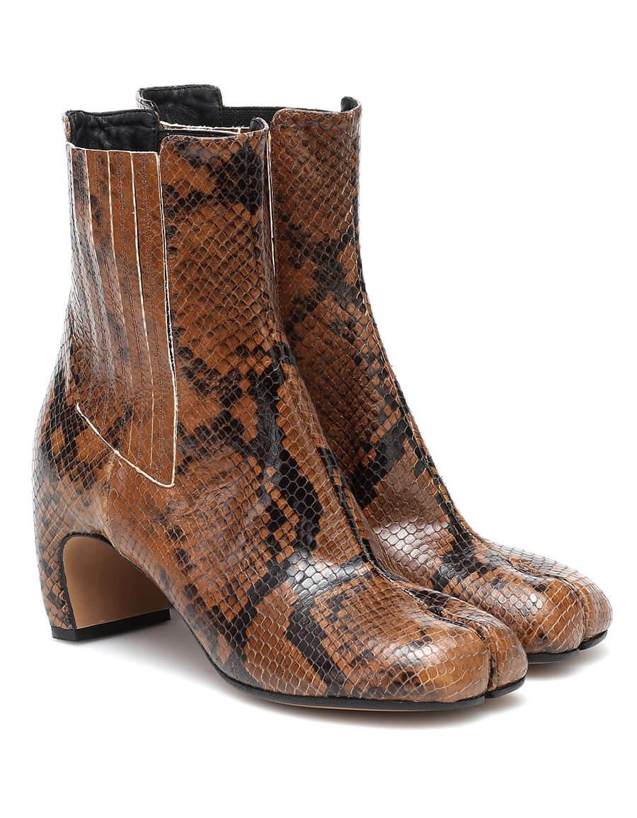 MAISON MARGIELA Tabi snake effect leather ankle boots