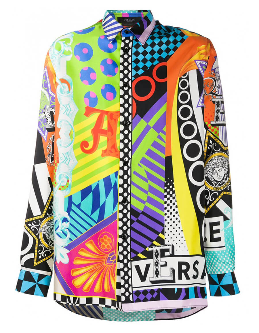 VERSACE SILK PRINTED SHIRT